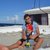 ...płyniemy z Dominiki na Grenadyny...
