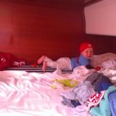 ...w kabinach dużo miejsca do raczkowania...