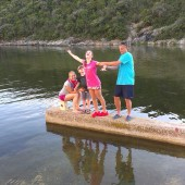 w Kablin Bay - szczyt sezonu a my sami w małym porciku!