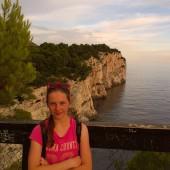 Martyna i klify w Mir - piękny widok!