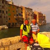 Jurek z Kaziem na spacerku w Rovinj
