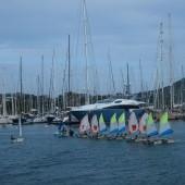 dopływamy do portu wyokrętowania - Le Marin (Martynika)