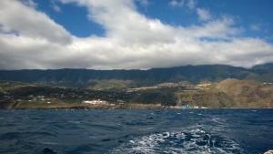 dopływając do Santa Cruz de la Palma (tym razem sztormowo na wejściu i wyjściu było!)