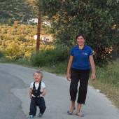 Mama Gosia ze swoim Stasiem