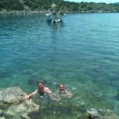 kąpiele były codziennie! Tutaj przytulna zatoczka na wyspie Dokos