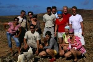 Ekipa ekspedycji ze strażnikami na Selvagem Grande.fot. Marek Kassur