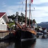...cumujemy do prywatnego nabrzeża w Upsangervaagen