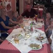 ..i pożegnalna kolacja w Izoli