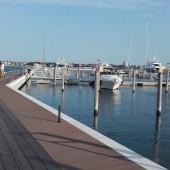 zupełnie pusta marina Sant Elena (Wenecja), otwarta tydzień przed naszym przybyciem :-)