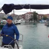 wyspływamy z centrum Grado