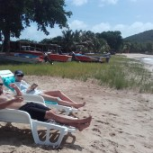 """...cały dzień """"byczyliśmy"""" się na plaży.."""
