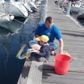 Stasiu łowi ryby z Tatą...