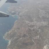 ... w końcu Malta... widok z samolotu na Gozo i marinę Mgar
