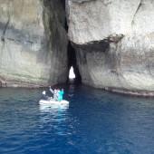 ...którą tylko pontonem można przepłynąć na drugą stronę - gdzie jest tzw. Inland Sea
