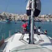 ...wypływamy z Marsaxlokk...