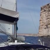 piękne, wysokie klify przy Gozo...