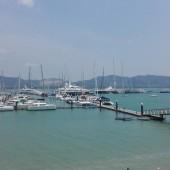 ..Yacht Haven Marina na koniec...