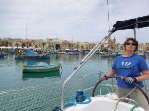 ..wypływamy już z Marsaxlokk