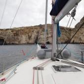 ..kotwiczyliśmy w różnych przyjemnych zatoczkach...