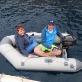 ..popływaliśmy pontonem...