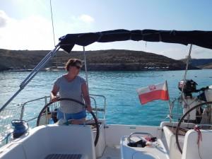 ..kotwiczymy w Blue Lagoon (Comino)