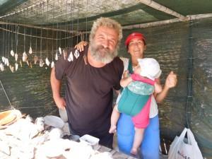 ...zaprzyjaźniliśmy się z jedynym mieszkańcem Wyspy Gramvousa koło Krety