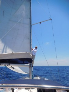 ...najpierw 5 dni płynęliśmy non stop z Malty do Pylos...