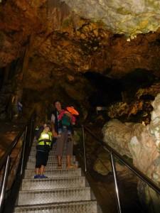 ...a końcówka to zwiedzanie jaskiń już na pieszo..