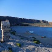 ...a dopływając do Krety - stanęliśmy w zatoce wraku przy Gramvousa