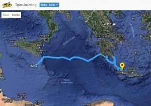 Msida Marina Malta - Pilos - Methoni - Diros - Kapsali (Kithera) - Avelomena (Kithera) - Monemvasia - Potamou (Antikithera) - Gramvousa Isl. (Kreta) - Theodorhy Isl. (Kreta) - Chania (Kreta)