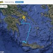 Nasza trasa: Chania (Kreta) - Gramvousa - Kleftiko (Milos) - Adamas (Milos) - Livadi (Serifos) - Loutra (Kithnos) - Poros - Perdika (Aigina) - Kalamaki (Ateny)