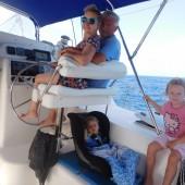 Ania i Jurek Talarowie z wnuczkami Anią i Olą
