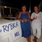 ..na Dominice też odbyła się ceremonia nadania nazwy jachtu, na for. Gosia z Anią, naszą Matką Chrzestną