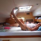 Ania i Jamajka w kabinie - na chwilowym odpoczynku