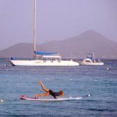 ..i jogę na wodzie na desce..