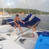 ...wysprzątaliśmy jacht..