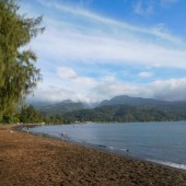 ...plaże na Tahiti...