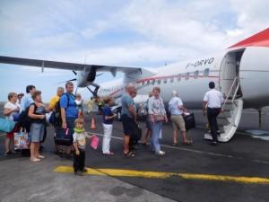 ...no i wsiadamy do samolotu do Raiatea....