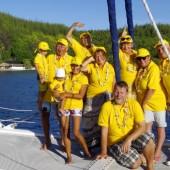 nasza załoga: Staśko, Jurek, Julek, Ela, Ania, Renia, Janusz, Krisu, Gosia, Ania