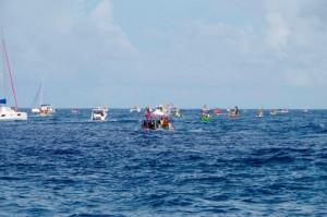 .. a tutaj regaty - najważniejsze wydarzenie w roku na Polinezji Francuskiej