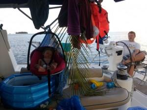 .. -  w swojej jachtowej kołysce...
