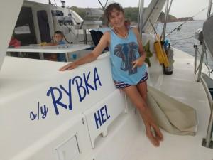nazwa: s/y RYBKA, port macierzysty: HEL