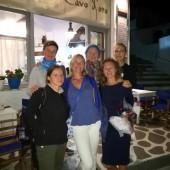 ..a wieczorem - obowiązkowa kolacja u Kasi z Cavo D'oro